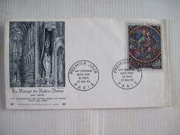 Enveloppe Premier Jour D'Emission La Vierge De Notre-Dame Premier Jour 1964 Centenaire De Notre-Dame PARIS 1964 TBE - Marcophilie (Lettres)