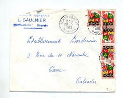 Lettre Cachet Rural Pontaubault Sur Armoirie - Marcophilie (Lettres)