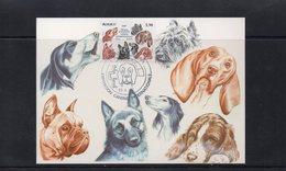 Monaco: 19827 Belle Carte Maximum 50 ème Exposition Canine Dog Hommage à Toutes Les Races 02484 - Hunde