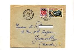 Lettre Cachet Cherbourg Entrepot Sur Maison Radio - Marcophilie (Lettres)