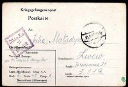 KRIEGSGEFANGENENPOST NAZI GERMANY THIRD REICH WW2 PRISONER WAR POW CAMP OFLAG XA ITZEHOE TO LWOW LVIV GG POLAND UKRAINE - Gevangenkampen