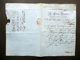 Manoscritto Brescello Bonificazione Bentivoglio Castelnuovo Di Sotto 1844 - Livres, BD, Revues