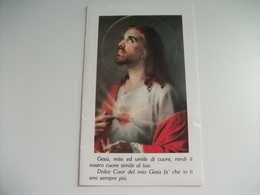 SANTINO HOLY PICTURE LE 12 PROMESSE DEL SACRO CUORE DI GESU' A S. MARGHERITA ALACOQUE - Religione & Esoterismo