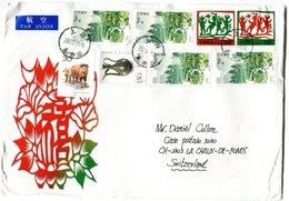 CHINA 2002 Enveloppe To Switzerland.BARGAIN.!! - 1949 - ... Volksrepubliek