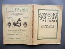 Annuario Musicale Italiano Fratelli Palombi Roma 1928 Raro Musica - Libri, Riviste, Fumetti