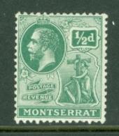 Montserrat: 1916/22   KGV   SG49   ½d     MH - Montserrat
