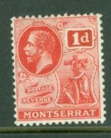 Montserrat: 1916/22   KGV   SG50   1d   Scarlet    MH - Montserrat