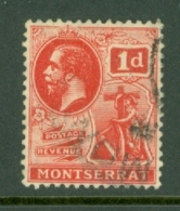 Montserrat: 1916/22   KGV   SG50   1d   Scarlet   Used - Montserrat