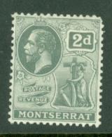 Montserrat: 1916/22   KGV   SG51   2d    MH - Montserrat