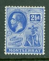 Montserrat: 1916/22   KGV   SG52   2½d    MH - Montserrat