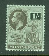 Montserrat: 1916/22   KGV   SG56   1/-   MH - Montserrat
