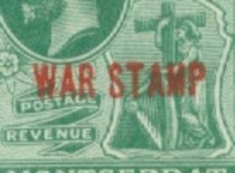 Montserrat: 1917/18   KGV 'War Tax' OVPT   SG60a   ½d  [red Overprint][short OVPT]   MH - Montserrat