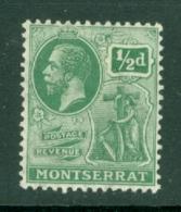 Montserrat: 1922/29   KGV   SG64   ½d    MH - Montserrat