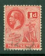 Montserrat: 1922/29   KGV   SG66   1d   Carmine   Used - Montserrat