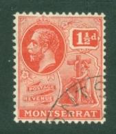 Montserrat: 1922/29   KGV   SG68   1½d   Carmine   Used - Montserrat