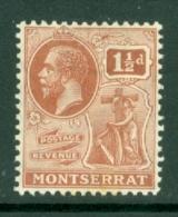 Montserrat: 1922/29   KGV   SG69   1½d   Red-brown   MH - Montserrat