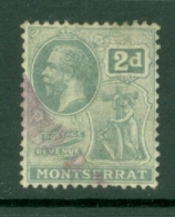 Montserrat: 1922/29   KGV   SG70   2d     Used - Montserrat