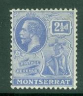 Montserrat: 1922/29   KGV   SG71a   2½d  Pale Bright Blue   MH - Montserrat