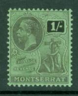 Montserrat: 1922/29   KGV   SG78   1/-   MH - Montserrat