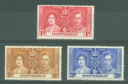 Montserrat: 1937   Coronation    MH - Montserrat