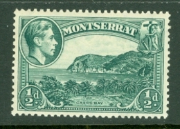Montserrat: 1938/48   KGVI   SG101    ½d  [Perf: 13]    MH - Montserrat