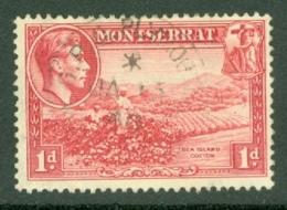 Montserrat: 1938/48   KGVI   SG102    1d  [Perf: 13]    Used - Montserrat