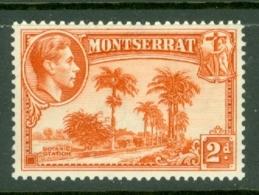Montserrat: 1938/48   KGVI   SG104    2d  [Perf: 13]    MH - Montserrat