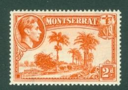 Montserrat: 1938/48   KGVI   SG104a    2d  [Perf: 14]    MH - Montserrat