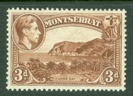 Montserrat: 1938/48   KGVI   SG106    3d  Brown [Perf: 13]    MH - Montserrat
