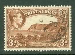 Montserrat: 1938/48   KGVI   SG106    3d  [Perf: 13]    Used - Montserrat