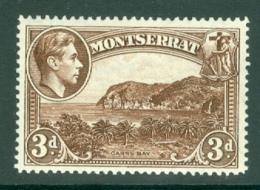 Montserrat: 1938/48   KGVI   SG106ab    3d  Deep Brown  [Perf: 14]    MH - Montserrat