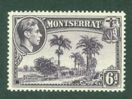 Montserrat: 1938/48   KGVI   SG107a    6d  [Perf: 14]    MH - Montserrat