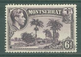 Montserrat: 1938/48   KGVI   SG107a    6d  [Perf: 14]    Used - Montserrat