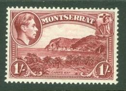 Montserrat: 1938/48   KGVI   SG108    1/-  [Perf: 13]    MH - Montserrat