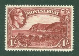 Montserrat: 1938/48   KGVI   SG108a    1/-  [Perf: 14]    MH - Montserrat