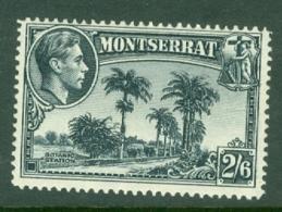 Montserrat: 1938/48   KGVI   SG109    2/6d  [Perf: 13]    MH - Montserrat