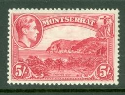 Montserrat: 1938/48   KGVI   SG110    5/-  [Perf: 13]    MH - Montserrat