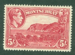 Montserrat: 1938/48   KGVI   SG110a    5/-  [Perf: 14]    MH - Montserrat