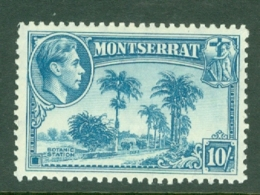Montserrat: 1938/48   KGVI   SG111    10/-    MH - Montserrat