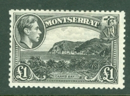 Montserrat: 1938/48   KGVI   SG112    £1    MH - Montserrat