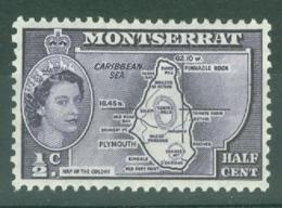 Montserrat: 1953/62   QE II - Pictorial   SG136a    ½c   [inscr. 'Presidency']  MH - Montserrat