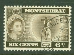 Montserrat: 1953/62   QE II - Pictorial   SG142ab    6c    Deep Sepia Brown  [inscr. 'Colony']  Used - Montserrat