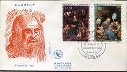 44137 Dahomey,fdc 1969 Paintings Of Leonardo Da Vinci - Arte