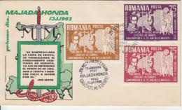ION MOTA, VASILE MARIN, IRON GUARD LEADERS, MAJADAHONDA, EXILE IN SPAIN, SPECIAL COVER, 1962, ROMANIA - 1948-.... Républiques