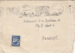FORESTRY VEHICLE, STAMP ON  COVER, 1966, ROMANIA - 1948-.... Républiques