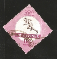 O) 1960 PHILIPPINES. OLYMPIC GAMES-ROME, RUNNER  SCT 822 10c, USED - Philippines