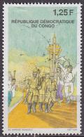 Timbre Oblitéré N° 1719(Yvert) Congo 1998 - Révolution - République Démocratique Du Congo (1997 -...)