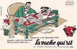 """F2903 - La Vache Qui Rit - Série """"Les Métiers"""" Buvard N°8 - Alimentos"""