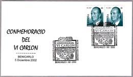 Conmemoration Del VINO VI CARLON - Wine VI CARLON. Benicarlo, Castellon, 2002 - Vinos Y Alcoholes