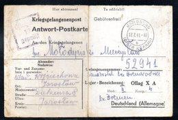 KRIEGSGEFANGENENPOST NAZI GERMANY THIRD REICH WW2 PRISONER WAR POW CAMP JAROSLAU TO OFLAG XA HOHENSALZA INOWROCLAW - 1939-44: 2. WK